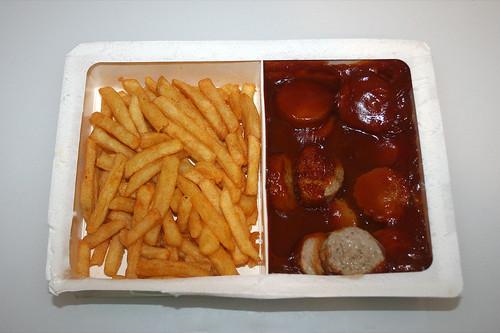 06 - Prima Currywurst mti Pommes - Fertig erhitzt / Heated