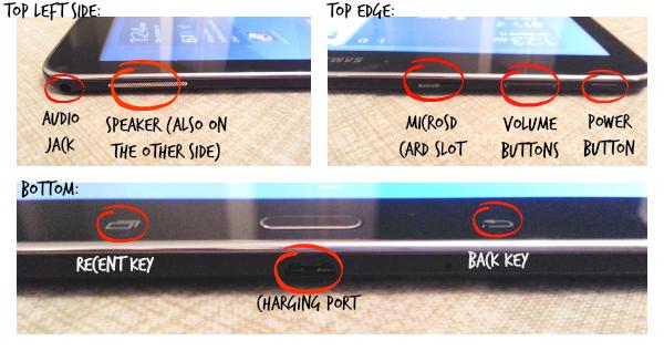 Samsung Galaxy Tab 4 ports