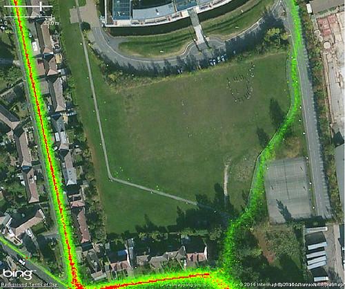 Jubilee Campus, Nottingham : Strava Heatmap