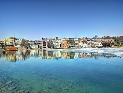 new york winter lake ny newyork reflection town frozen upstate syracuse centralnewyork newyorkstate fingerlakes nys skaneateleslake skaneateles