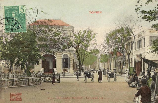 TONKIN - PHU-LANG-THUONG - Grande Rue (1910s)