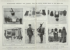 A feature in the Illustrated London News, depicting the kit a soldier carried.