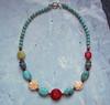 Vintage carved bead necklace