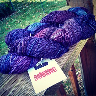 October #yarnbox #NeighborhoodFiberCo Rustic Fingering in Cleveland Park, a deep purple/blue combo. Love it! Now what to make with 1,040 yards?! #yarn #getyourkniton #knitstagram