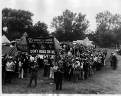 Unemployed March Out of Potomac Park: 1937