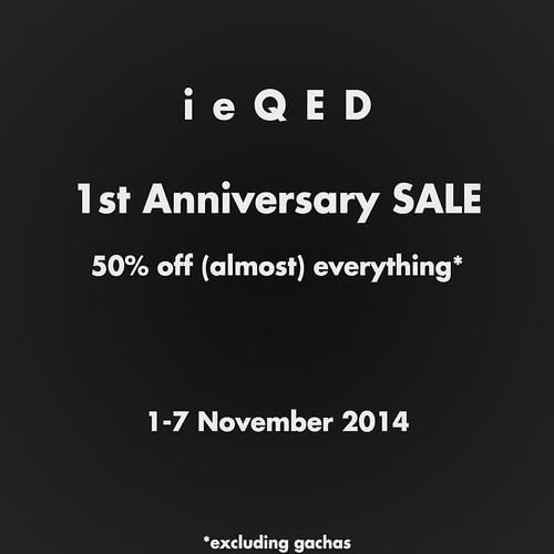 ieQED Anniversary Sale