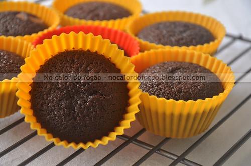 Bolinhos de chocolate para um lanchinho