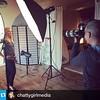 Studio shoot today with @chattygirlmedia Photos with @bruceclarke today! #photos #photographer #yeg #behindthescenes #regram