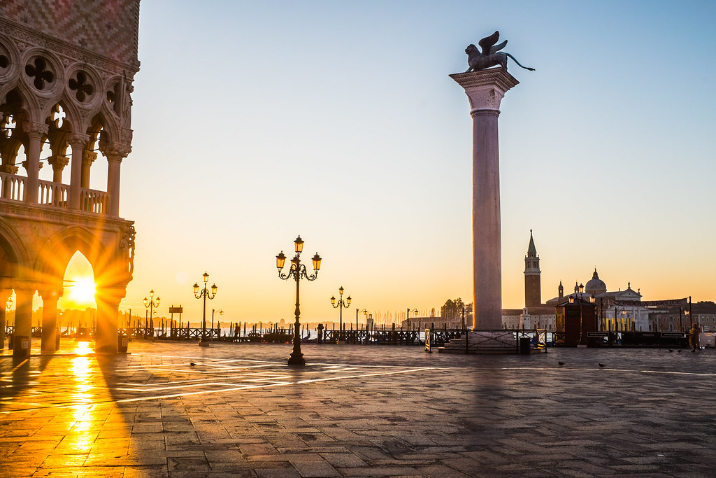 Piazza San Marco in Venice during sunrise