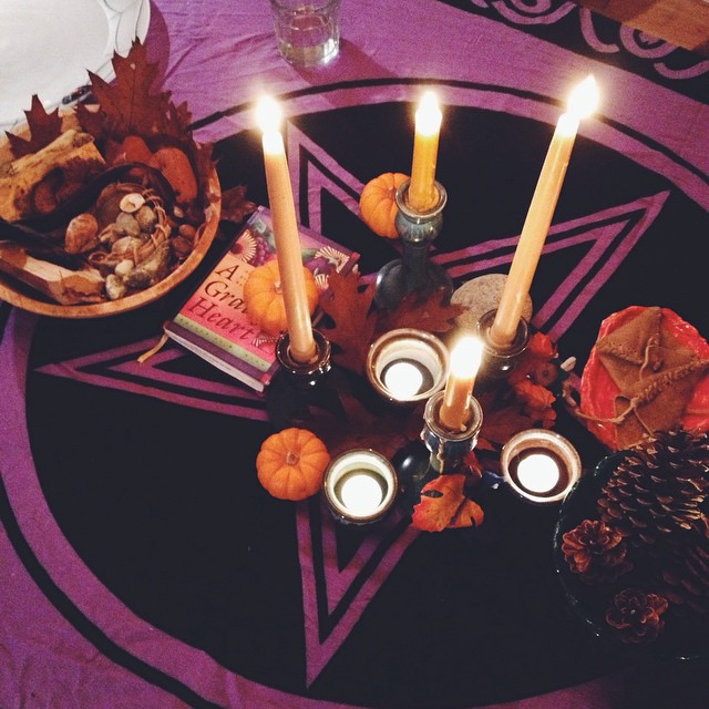 Samhain night. #halloween #secularpagan #samhain #celebrate #turningofthewheel #newyear
