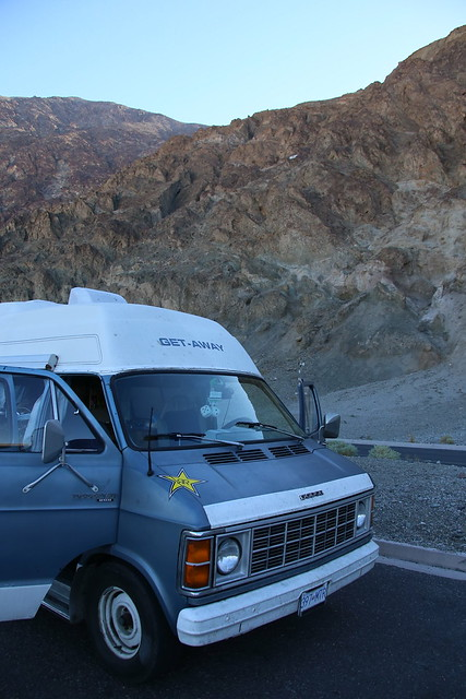Porkchop below sea level in the Badwater Basin. Death Valley NP.  California.