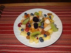 Salade aux fruits du matin au gîte du Champayeur.