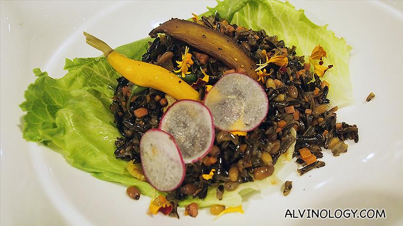 Wild Rice - sauteed wild rice, baby radish, baby carrot and haricot verts