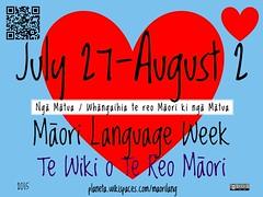 2015 Māori Language Week = Te Wiki o Te Reo Maori2015 Māori Language Week = Te Wiki o Te Reo Maori