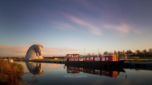 longexposure sunrise canon landscape eos scotland canalboat falkirk chriscameron thehelix kelpies 5dmkiii