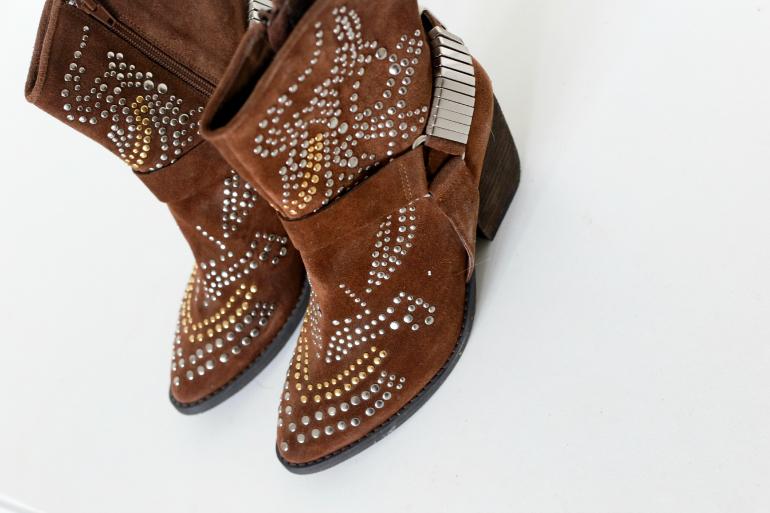 jeffrey campbell bruine studded western laarzen 2