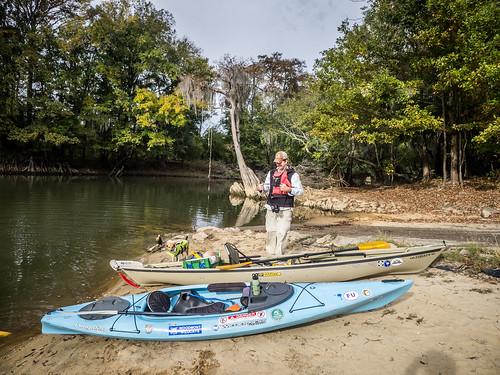 Savannah River from Stokes Bluff with LCU Nov 7, 2014, 4-18 PM Nov 8, 2014, 9-013
