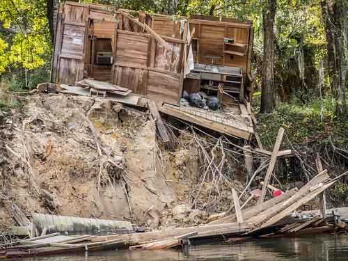 Savannah River from Stokes Bluff with LCU Nov 7, 2014, 4-18 PM Nov 8, 2014, 11-52 AM