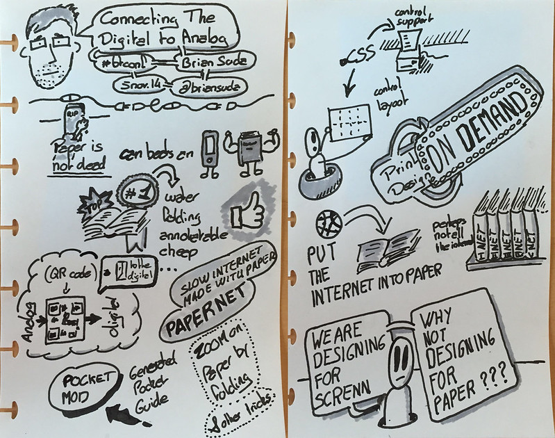 Sketchnote of the talk Connecting The Digital To Analog