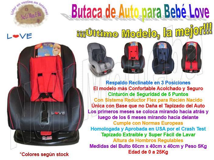 P r o m o 20 butaca silla auto bebe love gjypl for Butaca de bebe para auto