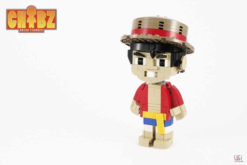 Monkey Chib Luffy (custom built Lego model)