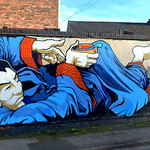 New mural at the Ships and Giggles pub Fylde Road Preston