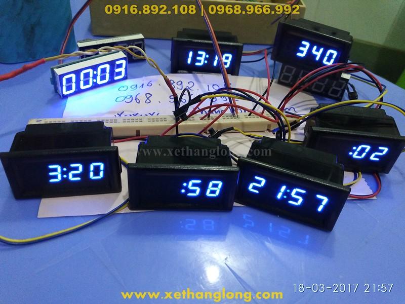 Chạy thử đồng hồ LED cho xe máy