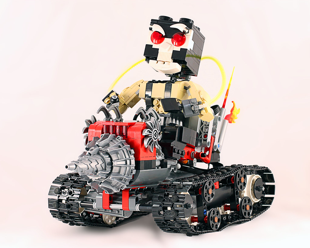 Bane and the RC Drill Machine (custom built Lego model)