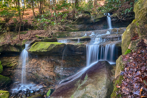 waterfall cascade blaze yocum morgan county kentucky