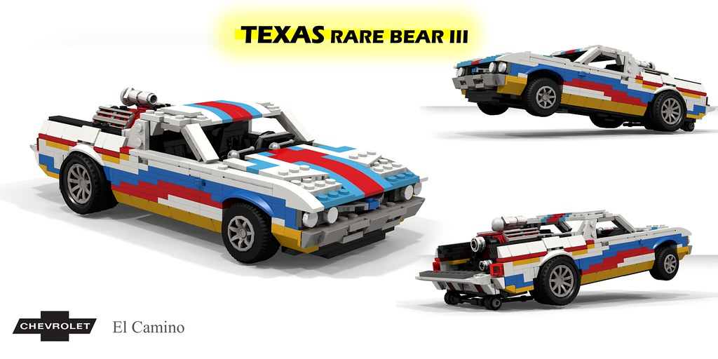 Chevrolet El Camino – Texas Rare Bear III Wheelstander (custom built Lego model)