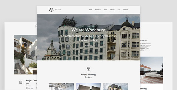 Woodbury Architects v1.0.0 - Minimalist Portfolio Joomla Template for Architects
