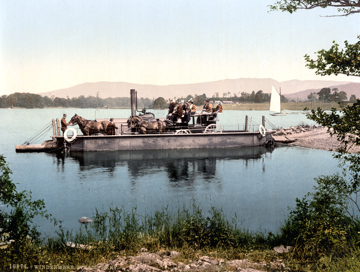 Windermere steam ferry, Lake District, 1890