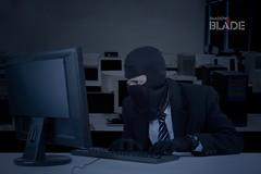 Burglar takes data on computer