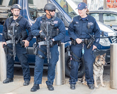 NYPD Police Officers, 2017 Yankees Home Opener at Yankee Stadium, The Bronx, New York City