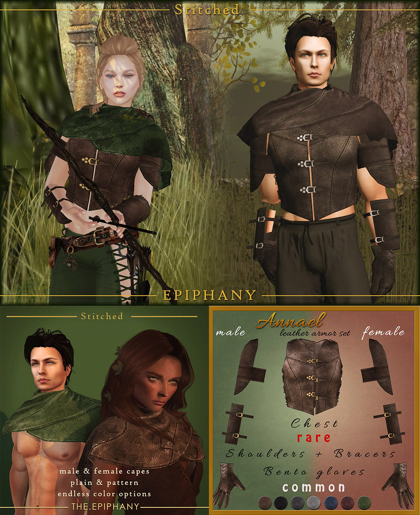 Annael Leather Armor & Cape - Male and Female @ The Epiphany - SecondLifeHub.com