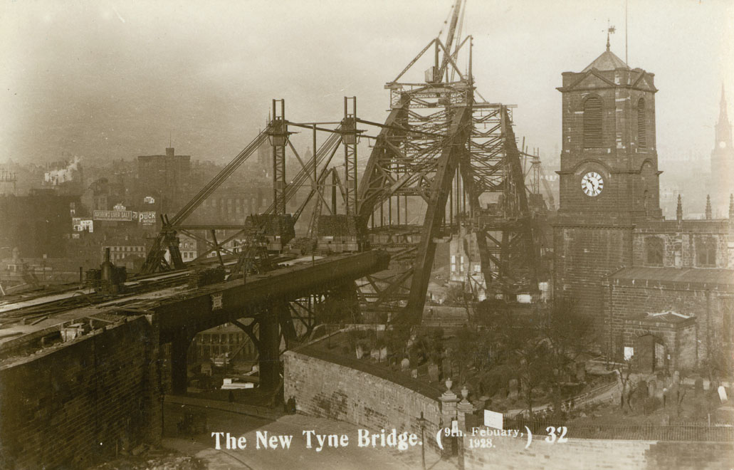 View of the Tyne Bridge from Gateshead