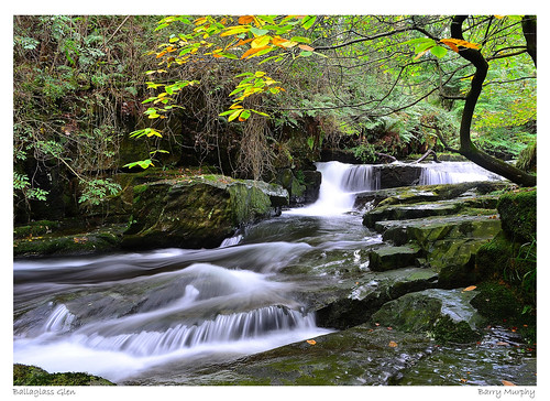 autumn waterfall maughold ballaglass