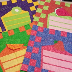 Look what just came home from @quiltmakermag: Strawberry Yum Yum and friends! #100blocks #eq7