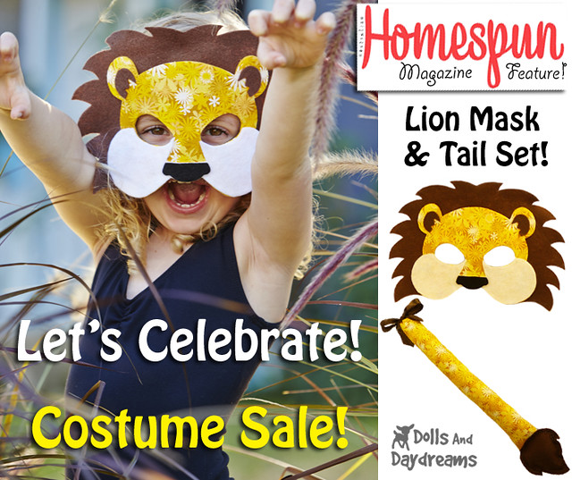 homespun lion mask costume