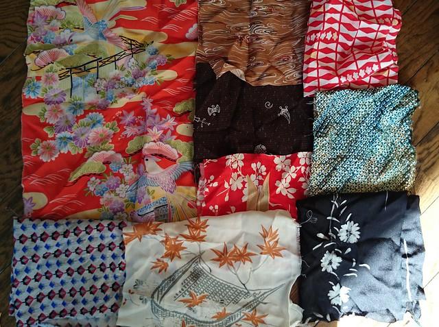 Kimono Silk Scraps