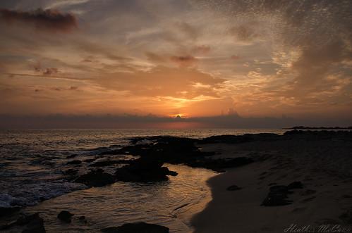 ocean sunset sea sky orange water netherlands saint st clouds islands martin tide sint caribbean maarten antilles westindies simpsonbay leeward flamingobeachresort