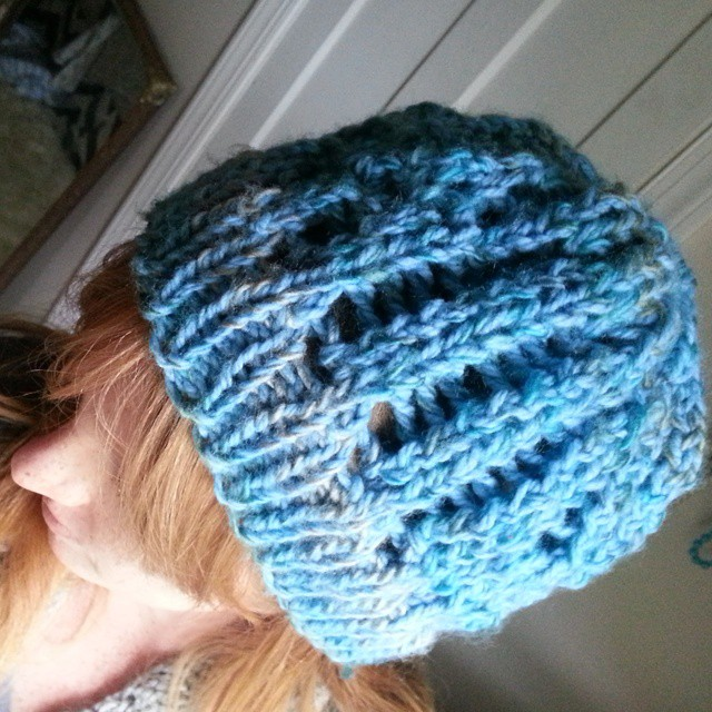 #ravelry Treasure Slouch hat in wool for my girlie for Christmas. #knitting #justkeepingbusytillbabycomes