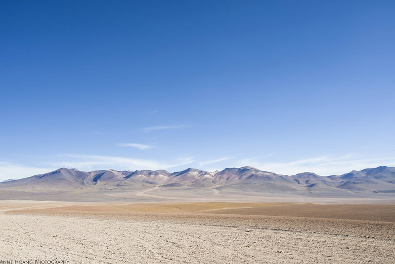 Mountains and desert in Bolivia