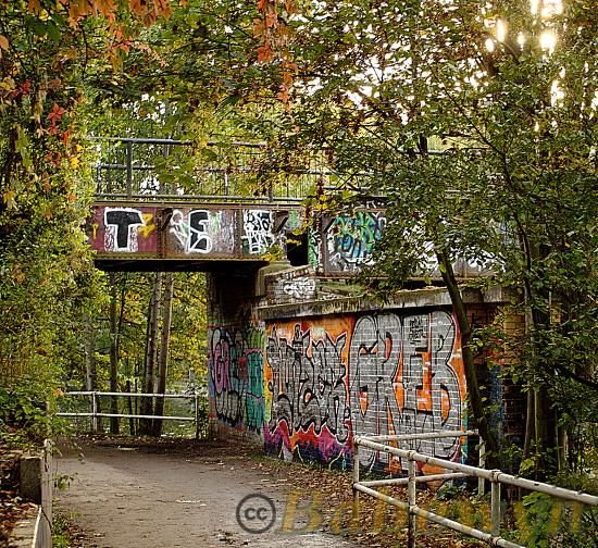 Underpass Wienerbrücke near Lohmühlenstrasse, Berlin&ndash,Neukölln. Oct 2014.