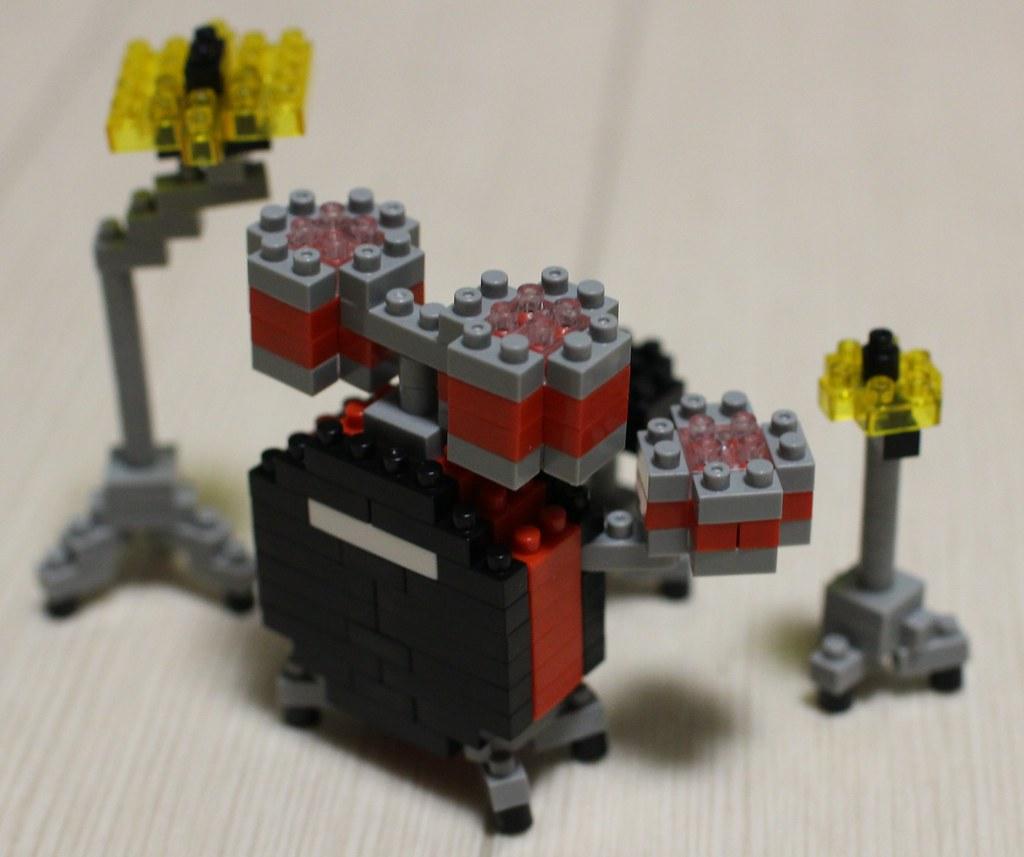 ナノブロック_ドラムセット完成