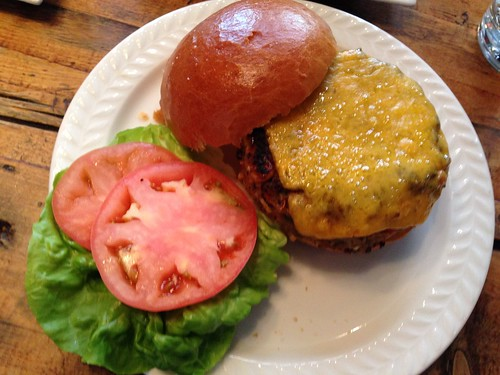 Spitzer's lamb burger