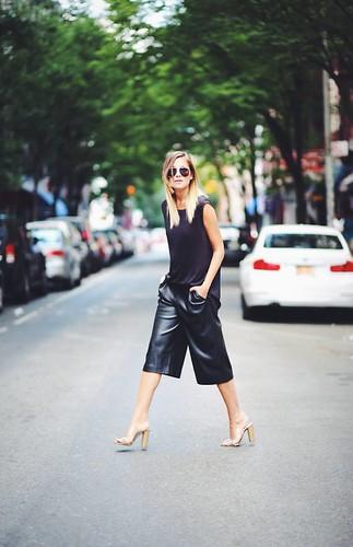 black-satin-culottes-street-style