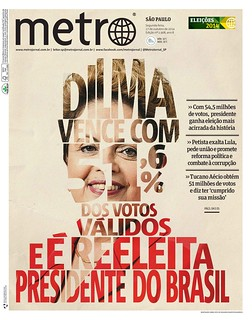 Metro SP / Capa Eleições - 2014