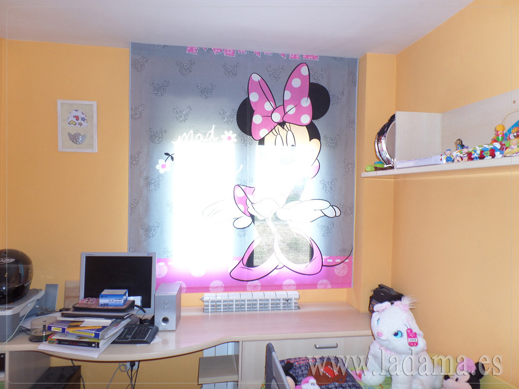 Fotograf as de cortinas juveniles la dama decoraci n for Habitaciones infantiles disney