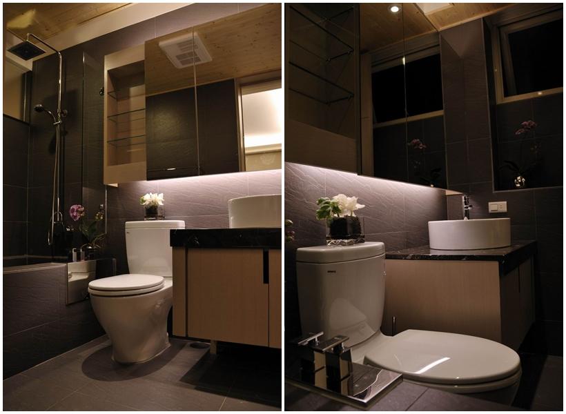 日式湯屋的浴廁空間